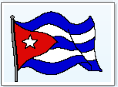 waving Cuban flag